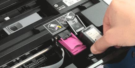 123 HP Envy 4500 Insert Ink Cartridge