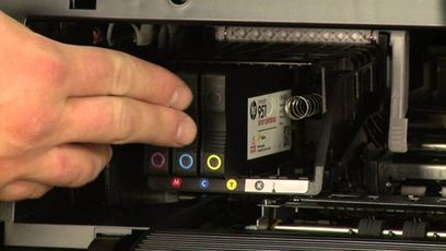 Hp OfficeJet Pro 8734 Ink cartridge Install