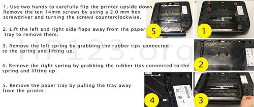 123.hp.com/setup 4655-Paper-Tray-Replacement